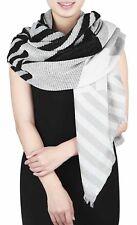 Gil-Design: kuschelweicher XXL Schal gewebt schwarz/weiss/grau TREND  NEU