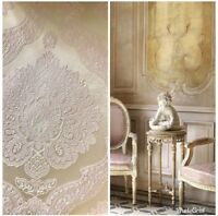 BACK IN STOCK! Designer Brocade Satin Fabric- Pink & Ivory - Upholstery