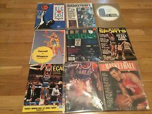 9 piece basketball program/ yearbook lot 1957-1992