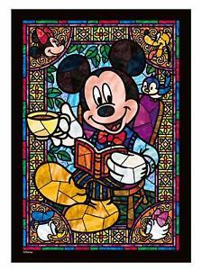 Tenyo Japan Jigsaw Puzzle DSG-266-955 Disney Mickey Stained Glass 266 Pieces