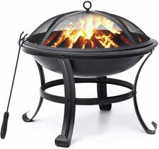 New ListingKingso Fire Pit, 22' Fire Pits Outdoor Wood Burning Steel Bbq