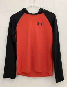 """Boys Under Armour Loose Hoodie Shirt XL X Large 19"""" Thermal Athletic Red Black"""
