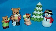 Homco #5101 Christmas Tree Snowman Bears Figurines