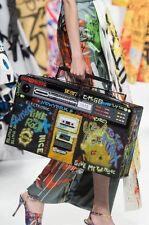 RUNWAY AW15 Moschino Couture X Jeremy Scott GRAFFITI Boombox Stereo Leather Bag