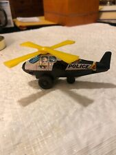 Vintage JAPANESE TIN LITHO HELICOPTER FRICTION Police Department 1960s?
