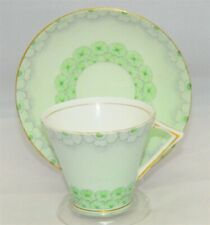 Gladstone Light Green Art Deco Teacup & Saucer ( Tea Cup )
