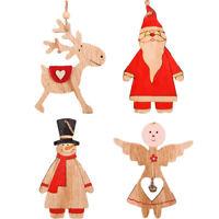 bois Sapin de Noël Décoration en bois Noël Snowman / wapit / père Noël / angel