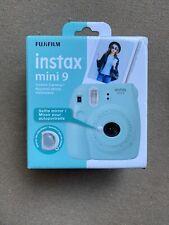 FUJIFILM Instax Mini 9 Ice Blue Instant Film Camera + 10 Film Sheets