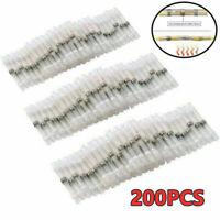 200Pcs Waterproof Solder Seal Sleeve Heat Shrink Wire Connectors Butt Terminals