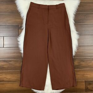 Ann Taylor Women's Size 8 Rust Brown Piped Fluid Ankle Pants