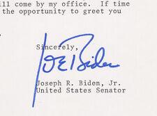 Joe Biden Signed 1977 Senate Letter! Bold autograph