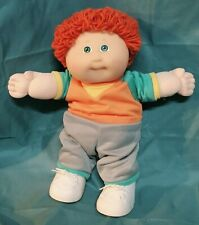 RARE! 1988 Cabbage Patch Kid Boy Orange Loop Hair Green Eyes CPK Clothing/Shoes