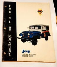 1969 Jeep Dispatcher 100, Model DJ-5A Parts List Manual 136pg's Ideal 4 TechMan.