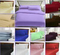 3 Piece Pcs Bedding Set Duvet Cover Plain Solid Dyed Quilt Cover Pillowcase