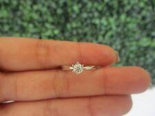 .106 CTW Diamond Engagement Ring 18k White Gold ER376 sep (PRE-ORDER)