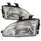 Headlights Headlamp Pair Set Fits 1992-1995 Honda Civic Hatchback Sedan Coupe