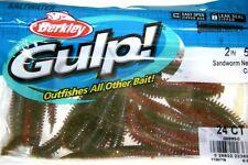 "Berkley Gulp! Saltwater Fishing Lure 2"" Sandworm Gssw2 All Colors"