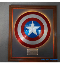 New Captain America Shield 1:1 Decorative Frame 75th Anniversary Alloy Metal Hot