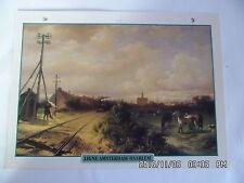 CARTE FICHE TRAIN LIGNE AMSTERDAM - HAARLEM