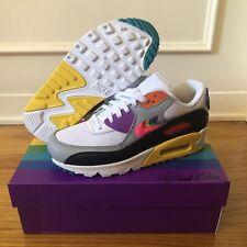 Nike Men Air Max 90 Be True BeTrue Rainbow Size 4.5 mens/6 Womens (CJ5482-100)