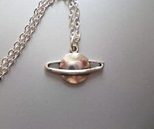 """Flying Saucer Necklace 18"""" Chain UFO Space Paranormal Sci Fi Alien"""