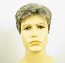 Perruque homme 100% cheveux naturel grise poivre et sel SEBASTIEN 44