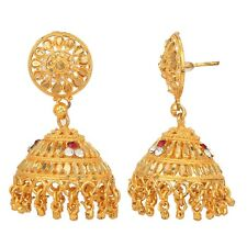 Indian Gold Plated Traditional Bridal Wedding Jhumka Jhumki Fashion Earring Set