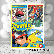 Personalised Pokemon Kids Birthday / Any Greetings Card Your Name (S4)