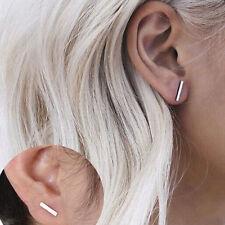 Punk Black Gold Silver Earrings Simple T Bar Earring Women Girl Ear Stud Earring