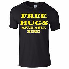 Free Hugs Funny Tee T-Shirt Top Tumblr Novelty Xmas Gift Secret Santa