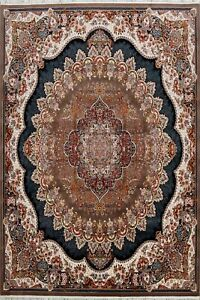 Square 10x10 Traditional Floral Brown Oriental Area Rug For Living Room Carpet