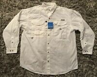 Columbia Men's PFG TAMIAMI II Long Sleeve LS Shirt Size L New With Tags NWT