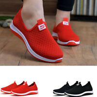 Fashion Women's Breathable Mesh Sports Shoes Outdoor Running Sneakers Flat Shoes