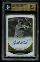 2013 Bowman Chrome Draft Austin Meadows Rookie BGS 9.5 Auto 10 High End Subs! RC