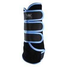 Woof Wear Dressage Wrap-L-Black/Powder Blue