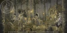 Beware the Jabberwock: Alice in Wonderland Giclée Print - David Delamare