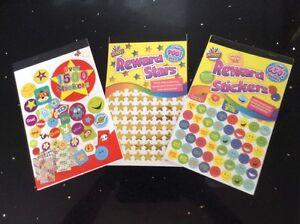 Reward Stickers - Reward Stars - Assorted Fun Stickers - Children - Party Bags