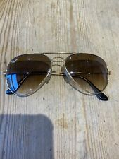 Ray-Ban Sunglasses, Brown Gradient Tint, Gold Frame