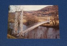 Denbighshire - Betws-Y-Coed - Suspension Bridge - Old Postcard