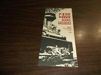 1967 CASS SCENIC RAILROAD PASSENGER  TIMETABLE