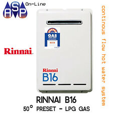 RINNAI B16 BUILDERS CONTINUOUS HWS - LPG GAS 50° - B16L50