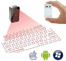TASTIERA MOUSE BLUETOOTH WIRELESS PROIEZIONE LASER VIRTUALE IOS ANDROID KEYBOARD