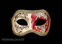 Maschera Di Venezia Columbine Night And Day Rosso Per Travestimento 803 V12B