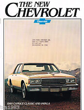 1980 Chevy IMPALA / CAPRICE Brochure / Catalog: COUPE, LANDAU, Station Wagon,