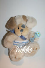 "First & Main Pupsie Puppy DOG 9"" Rattle Baby Lovey Plush Soft Toy Stuffed 2573"