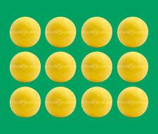 12 Yellow Foosballs - Textured Table Soccer Balls - Dynamo