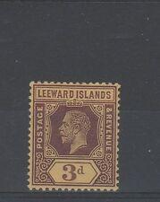 Leeward Islands 1913 3d on white back MH