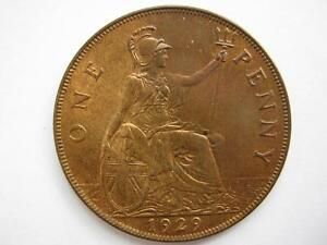 1929 Penny, UNC.