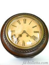 Orologio antico da muro francese,vecchio orologio in legno da parete a186