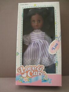 "VINTAGE AFRICAN-AMERICAN DOLL NIB ""Love & Care"" Sleep Eyes ""Lisa"""